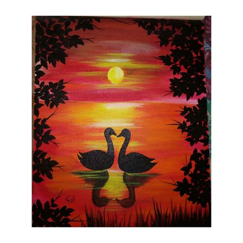 sunsets, 12 x 16 inch, riya rana,12x16inch,canvas,portrait paintings,nature paintings | scenery paintings,paintings for dining room,paintings for living room,paintings for bedroom,paintings for hotel,paintings for school,paintings for dining room,paintings for living room,paintings for bedroom,paintings for hotel,paintings for school,acrylic color,GAL01998131603