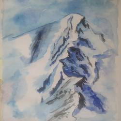 mountain, 9 x 12 inch, sukanya pore,9x12inch,thick paper,landscape paintings,watercolor,GAL01937631606