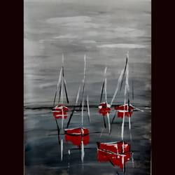 sailboats, 12 x 16 inch, priyanshu sharma,12x16inch,drawing paper,paintings,abstract paintings,landscape paintings,art deco paintings,paintings for dining room,paintings for living room,paintings for bedroom,paintings for office,paintings for hotel,paintings for school,paintings for hospital,acrylic color,GAL0973631624