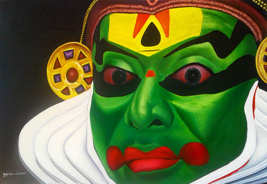 Painting of kathakali major forms of classical indian dance