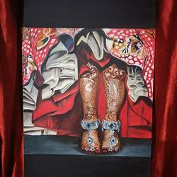 hold your step, 24 x 36 inch, rasia arshad,24x36inch,canvas,paintings,realism paintings,paintings for bedroom,oil color,GAL01674731699