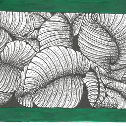 twisted green, 5 x 8 inch, parijat joshi singhal,5x8inch,paper,drawings,illustration drawings,minimalist drawings,modern drawings,paintings for dining room,paintings for living room,paintings for bedroom,paintings for bathroom,paintings for kitchen,paintings for hospital,acrylic color,ink color,mixed media,pen color,paper,GAL02000231712