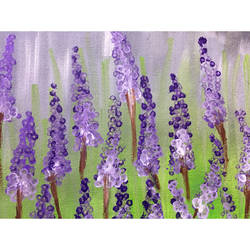 lavender flower , 14 x 12 inch, pooja lokhande,14x12inch,canvas,paintings,flower paintings,acrylic color,GAL0420531720