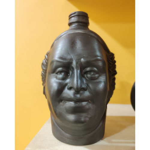 old monk black face man , 5 x 110 inch, pooja lokhande,5x110inch,acrylic glass,sculptures,vases,mugs,acrylic color,GAL0420531724