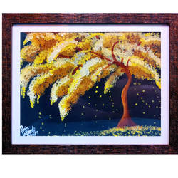 yellow tree , 18 x 14 inch, pooja lokhande,18x14inch,canvas,paintings,wildlife paintings,flower paintings,landscape paintings,paintings for dining room,paintings for living room,paintings for bedroom,paintings for office,paintings for hospital,acrylic color,GAL0420531725