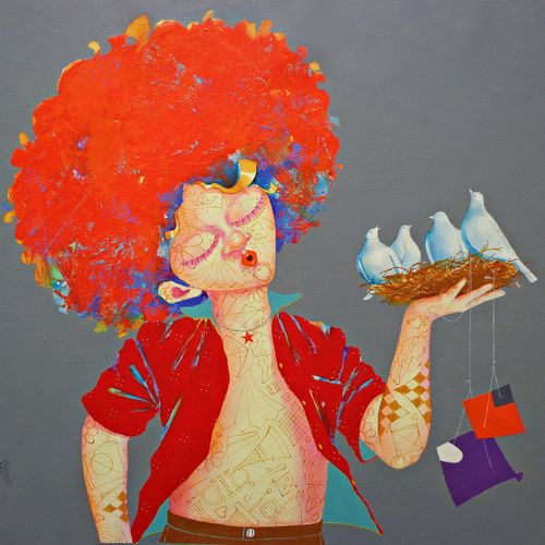 the childhood 33, 24 x 24 inch, shiv kumar soni,24x24inch,canvas,paintings,expressionism paintings,realism paintings,surrealism paintings,contemporary paintings,realistic paintings,love paintings,children paintings,kids paintings,paintings for dining room,paintings for living room,paintings for bedroom,paintings for office,paintings for kids room,paintings for hotel,paintings for school,paintings for hospital,acrylic color,GAL03031735