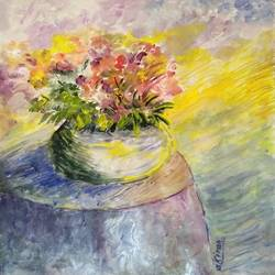 flower vase, 11 x 8 inch, kiran avarsekar,11x8inch,paper,paintings,modern art paintings,paintings for dining room,paintings for living room,paintings for bedroom,paintings for office,paintings for bathroom,paintings for kids room,paintings for hotel,paintings for kitchen,paintings for school,