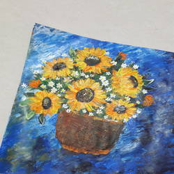 sunflower impressionist painting , 12 x 11 inch, nidhi  agrawal,12x11inch,thick paper,paintings,abstract paintings,flower paintings,modern art paintings,still life paintings,nature paintings | scenery paintings,impressionist paintings,contemporary paintings,paintings for dining room,paintings for living room,paintings for bedroom,paintings for office,paintings for bathroom,paintings for hotel,paintings for kitchen,paintings for school,paintings for hospital,acrylic color,GAL0932631770