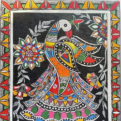 acrylic painting, 10 x 12 inch, rupall jagad,10x12inch,canvas,paintings,madhubani paintings | madhubani art,acrylic color,GAL01981931794