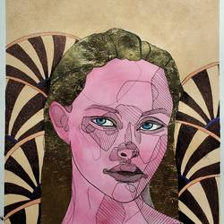mixed media, 12 x 17 inch, ayush dhanda,12x17inch,thick paper,portrait paintings,acrylic color,watercolor,GAL02024231800