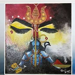 shivshakti painting, 10 x 12 inch, smriti  dobhal,10x12inch,canvas,lord shiva paintings,paintings for living room,paintings for living room,oil color,GAL01907631806