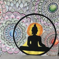 buddha with mandalas, 12 x 16 inch, krithika pradeep,12x16inch,thick paper,drawings,buddha drawings,paintings for dining room,paintings for living room,paintings for office,paintings for kids room,acrylic color,pen color,paper,GAL02026231834