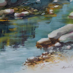 reflection , 15 x 10 inch, bijendra  pratap ,15x10inch,cartridge paper,paintings,nature paintings | scenery paintings,acrylic color,GAL045331848