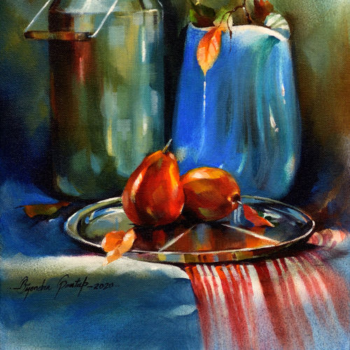 still life 1, 18 x 12 inch, bijendra  pratap ,18x12inch,canvas,paintings,still life paintings,acrylic color,GAL045331854