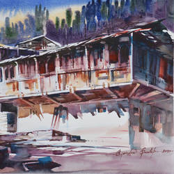 sunny day , 18 x 15 inch, bijendra  pratap ,18x15inch,brustro watercolor paper,paintings,nature paintings | scenery paintings,paintings for dining room,paintings for living room,paintings for bedroom,paintings for office,paintings for kids room,paintings for hotel,paintings for kitchen,paintings for school,paintings for hospital,watercolor,GAL045331860
