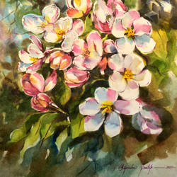 blooming 1, 15 x 22 inch, bijendra  pratap ,15x22inch,fabriano sheet,paintings,nature paintings | scenery paintings,paintings for dining room,paintings for living room,paintings for bedroom,paintings for office,paintings for bathroom,paintings for kids room,paintings for hotel,paintings for kitchen,paintings for school,paintings for hospital,watercolor,GAL045331865