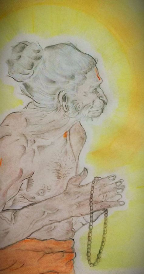 anjaneyaa, 12 x 24 inch, chandiran s,12x24inch,thick paper,religious paintings,paintings for living room,paintings for office,paintings for hotel,paintings for living room,paintings for office,paintings for hotel,pencil color,watercolor,GAL02024631871