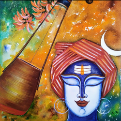 shiva, 18 x 20 inch, susmita mandal,18x20inch,canvas,paintings,conceptual paintings,paintings for living room,paintings for living room,acrylic color,GAL01940531882