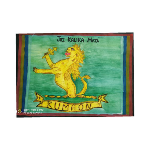 kumaun regiment sign, 10 x 14 inch, geeta chauhan,10x14inch,drawing paper,paintings,figurative paintings,contemporary paintings,paintings for dining room,paintings for living room,paintings for bedroom,paintings for office,paintings for hotel,paintings for school,watercolor,GAL01886131889