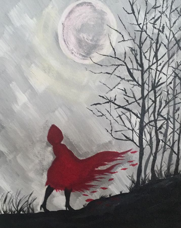 red riding , 12 x 14 inch, beverly  dsouza ,landscape paintings,paintings for living room,canvas,acrylic color,12x14inch,GAL0129319