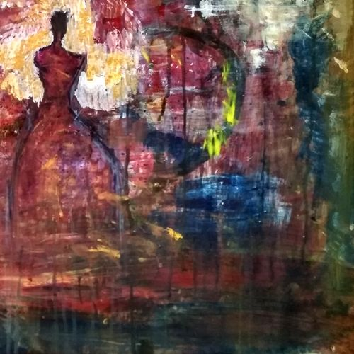 princess, 24 x 18 inch, rekha  kumari ,24x18inch,thick paper,paintings,abstract paintings,paintings for living room,paintings for living room,mixed media,GAL046731929