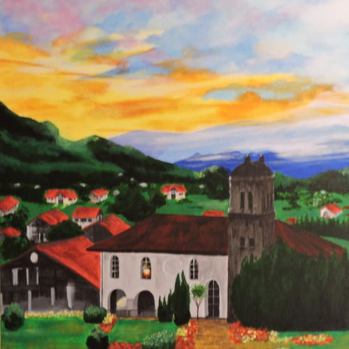 sunset in wilderwils, 20 x 16 inch, rossetta luther,20x16inch,canvas,paintings,landscape paintings,nature paintings | scenery paintings,impressionist paintings,contemporary paintings,realistic paintings,paintings for dining room,paintings for living room,paintings for bedroom,paintings for office,paintings for hotel,acrylic color,GAL02037031936