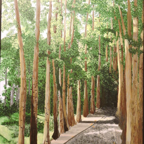 endless avenue, 24 x 36 inch, rossetta luther,24x36inch,canvas,paintings,landscape paintings,nature paintings   scenery paintings,impressionist paintings,realistic paintings,paintings for living room,paintings for bedroom,paintings for office,paintings for hotel,paintings for school,acrylic color,GAL02037031938