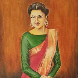 silk drape, 12 x 24 inch, anu radha,12x24inch,canvas,realism paintings,paintings for living room,paintings for bedroom,paintings for hotel,paintings for living room,paintings for bedroom,paintings for hotel,oil color,GAL02033231954