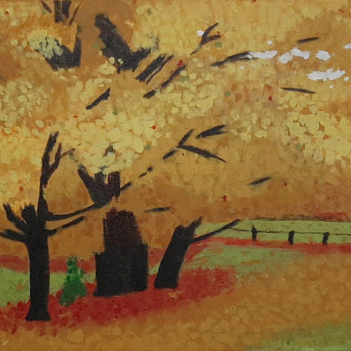 yellow leaves, 22 x 15 inch, tejal bhagat,22x15inch,canvas,paintings,flower paintings,nature paintings | scenery paintings,expressionism paintings,impressionist paintings,photorealism paintings,contemporary paintings,paintings for dining room,paintings for living room,paintings for bedroom,paintings for office,paintings for bathroom,paintings for kids room,paintings for hotel,paintings for kitchen,paintings for school,paintings for hospital,acrylic color,GAL02041531990