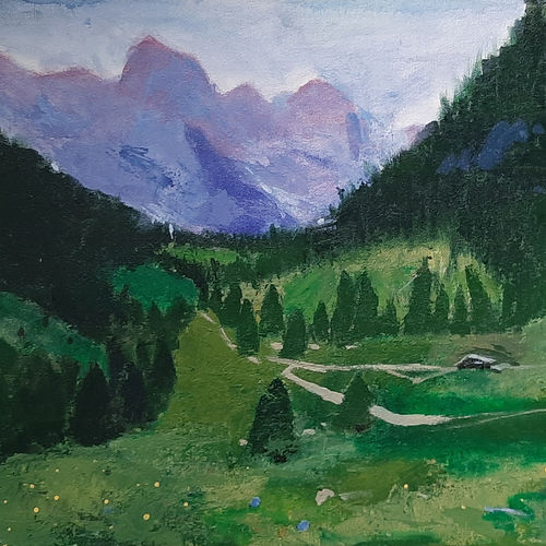 himachal greens, 20 x 16 inch, tejal bhagat,20x16inch,canvas,paintings,landscape paintings,nature paintings   scenery paintings,expressionism paintings,impressionist paintings,photorealism paintings,realism paintings,realistic paintings,paintings for dining room,paintings for living room,paintings for bedroom,paintings for office,paintings for bathroom,paintings for kids room,paintings for hotel,paintings for kitchen,paintings for school,paintings for hospital,acrylic color,GAL02041531993