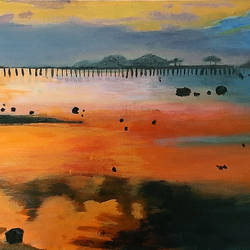 orange sunset, 24 x 12 inch, tejal bhagat,24x12inch,canvas,paintings,landscape paintings,nature paintings | scenery paintings,expressionism paintings,impressionist paintings,photorealism paintings,realism paintings,realistic paintings,paintings for dining room,paintings for living room,paintings for bedroom,paintings for office,paintings for bathroom,paintings for kids room,paintings for hotel,paintings for kitchen,paintings for school,paintings for hospital,acrylic color,GAL02041531998