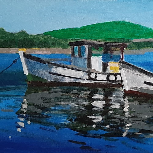 the boats, 24 x 12 inch, tejal bhagat,24x12inch,canvas,paintings,landscape paintings,nature paintings | scenery paintings,expressionism paintings,impressionist paintings,photorealism paintings,photorealism,realism paintings,surrealism paintings,contemporary paintings,realistic paintings,paintings for dining room,paintings for living room,paintings for bedroom,paintings for office,paintings for bathroom,paintings for kids room,paintings for hotel,paintings for school,paintings for hospital,acrylic color,GAL02041531999