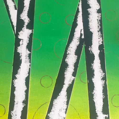 birch trees, 12 x 24 inch, beverly  dsouza ,abstract paintings,paintings for dining room,canvas,acrylic color,12x24inch,GAL0129320
