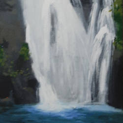 waterfall, 12 x 30 inch, tejal bhagat,12x30inch,canvas,paintings,landscape paintings,conceptual paintings,nature paintings | scenery paintings,expressionism paintings,impressionist paintings,photorealism paintings,photorealism,water fountain paintings,paintings for dining room,paintings for living room,paintings for bedroom,paintings for office,paintings for bathroom,paintings for hotel,paintings for kitchen,paintings for school,paintings for hospital,acrylic color,GAL02041532000