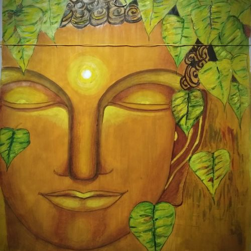 buddha - the peace, buddha, lord buddha, gautam buddh, 14 x 18 inch, vishal thakur,14x18inch,canvas,buddha paintings,paintings for dining room,paintings for living room,paintings for bedroom,paintings for office,paintings for hotel,paintings for school,paintings for hospital,paintings for dining room,paintings for living room,paintings for bedroom,paintings for office,paintings for hotel,paintings for school,paintings for hospital,oil color,GAL02044732018