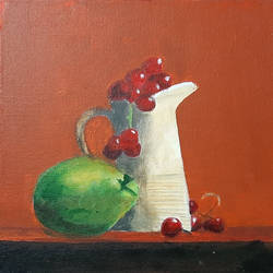 still life 02, 12 x 12 inch, tejal bhagat,12x12inch,canvas board,paintings,abstract paintings,still life paintings,expressionism paintings,impressionist paintings,realistic paintings,paintings for dining room,paintings for living room,paintings for bedroom,paintings for office,paintings for bathroom,paintings for kids room,paintings for hotel,paintings for kitchen,paintings for school,paintings for hospital,acrylic color,GAL02041532037