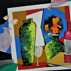 composition-4, 36 x 30 inch, rajeev sarkar,36x30inch,canvas,paintings,abstract paintings,acrylic color,GAL02046732062