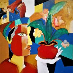 composition-8, 20 x 20 inch, rajeev sarkar,20x20inch,canvas,paintings,abstract paintings,acrylic color,GAL02046732065