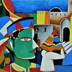composition-9, 24 x 20 inch, rajeev sarkar,24x20inch,canvas,paintings,abstract paintings,acrylic color,GAL02046732066