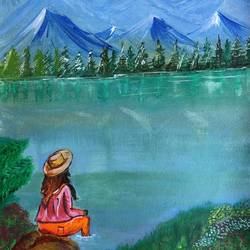 inspiration , 12 x 16 inch, deepti singhal,12x16inch,canvas,landscape paintings,nature paintings | scenery paintings,paintings for dining room,paintings for living room,paintings for bedroom,paintings for hotel,paintings for dining room,paintings for living room,paintings for bedroom,paintings for hotel,acrylic color,GAL02048332069