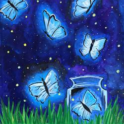 the night butterflies, 11 x 14 inch, deepti singhal,11x14inch,cartridge paper,paintings,wildlife paintings,cityscape paintings,landscape paintings,nature paintings | scenery paintings,love paintings,paintings for dining room,paintings for living room,paintings for bedroom,paintings for office,paintings for hotel,paintings for dining room,paintings for living room,paintings for bedroom,paintings for office,paintings for hotel,acrylic color,mixed media,poster color,GAL02048332073