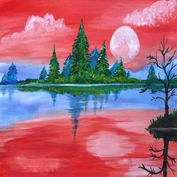 the pink winter, 14 x 11 inch, deepti singhal,14x11inch,cartridge paper,paintings,landscape paintings,nature paintings | scenery paintings,paintings for dining room,paintings for living room,paintings for bedroom,paintings for office,paintings for hotel,paintings for dining room,paintings for living room,paintings for bedroom,paintings for office,paintings for hotel,acrylic color,mixed media,poster color,GAL02048332074