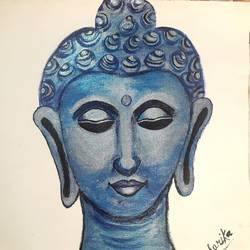 buddha, 12 x 14 inch, sarika nathani,12x14inch,canvas,buddha paintings,acrylic color,GAL02047332081