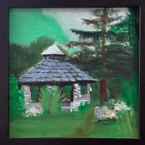 house in jungle, 8 x 8 inch, tejal bhagat,8x8inch,canvas board,paintings,nature paintings   scenery paintings,expressionism paintings,impressionist paintings,photorealism,realism paintings,realistic paintings,children paintings,kids paintings,paintings for dining room,paintings for living room,paintings for bedroom,paintings for office,paintings for bathroom,paintings for kids room,paintings for hotel,paintings for kitchen,paintings for school,paintings for hospital,acrylic color,GAL02041532091