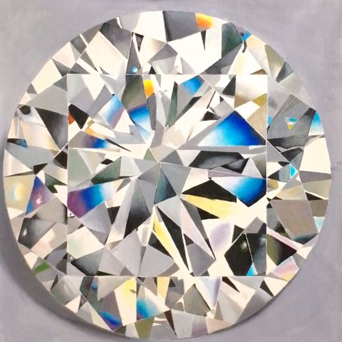 cristle edges of diamond, 23 x 23 inch, md moin ,23x23inch,canvas,modern art paintings,paintings for living room,paintings for living room,oil color,GAL01096032096