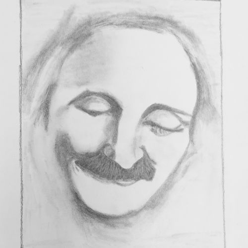 meher baba 02, 8 x 10 inch, p sisira,abstract drawings,paintings for bedroom,religious paintings,thick paper,graphite pencil,8x10inch,GAL011603210