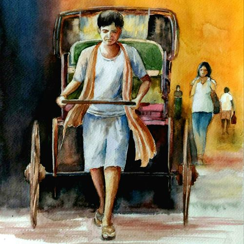 on the street, 11 x 16 inch, sutapa paul,11x16inch,brustro watercolor paper,paintings,figurative paintings,cityscape paintings,landscape paintings,conceptual paintings,expressionism paintings,illustration paintings,impressionist paintings,minimalist paintings,realism paintings,street art,surrealism paintings,miniature painting.,paintings for dining room,paintings for living room,paintings for bedroom,paintings for kids room,paintings for hotel,watercolor,GAL01798832102