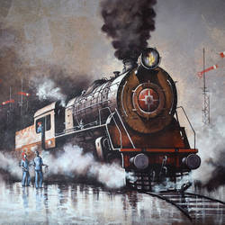 nostalgia of steam locomotives 37, 44 x 33 inch, kishore pratim biswas,44x33inch,canvas,paintings,cityscape paintings,landscape paintings,conceptual paintings,impressionist paintings,contemporary paintings,paintings for dining room,paintings for living room,paintings for office,paintings for hotel,paintings for school,paintings for dining room,paintings for living room,paintings for office,paintings for hotel,paintings for school,acrylic color,GAL0106032106