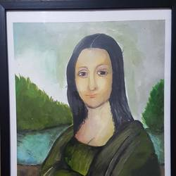 Monalisa paintings,15.35 width and 11.42 height,figurative painting for living room,bed room,kids room,for office and dining room.