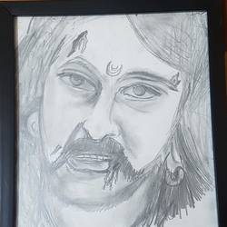 Bahubali -The Warrior,Paintings,painting for living room,bed room,kids room,for office and dining room.